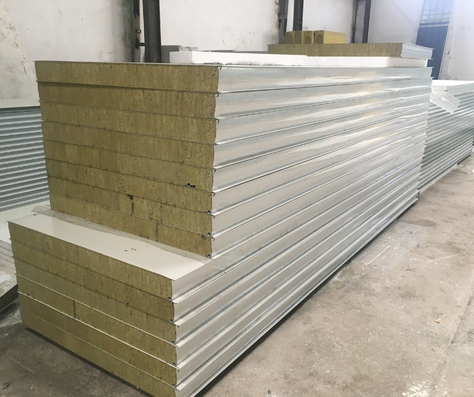 Vách Panel Rockwool Dày 100mm